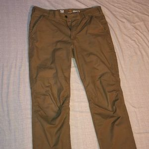 Carhartt relaxed fit 34 x 32 brown work pants.